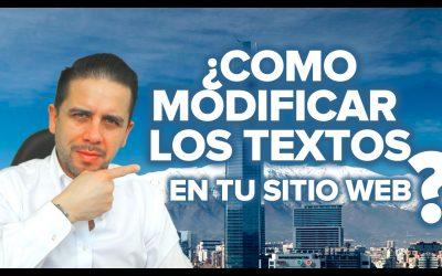 COMO  CAMBIAR LOS TEXTOS EN TU SITIO WEB